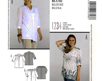 Burda 7398 Sewing Pattern for Misses' Blouse - Uncut - Sizes 18, 20, 22, 24, 26, 28, 30, 32, 34