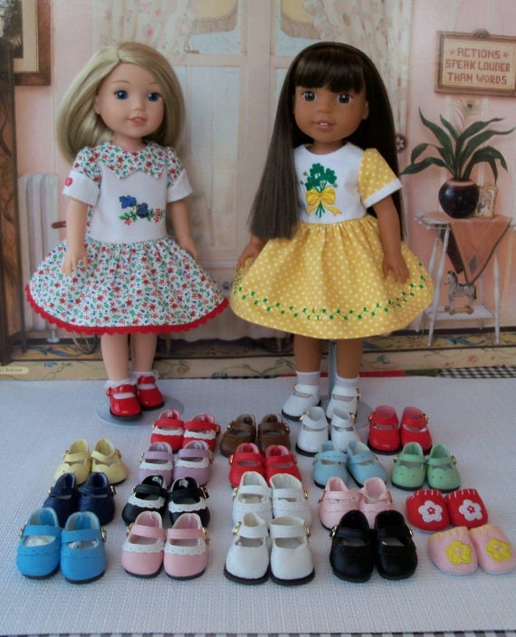 Wellie Wisher Size Shoes /  CUSTOM Made to Your SPECS / Doll Accessories Fit American Girl Wellie Wishers® or Hearts4Hearts