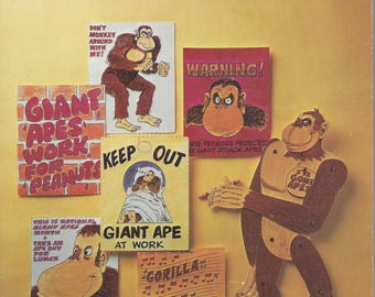Vintage Giant Apes Activity & Game Book, 1976