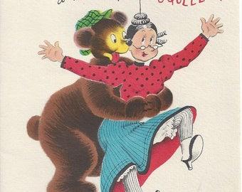 Vintage Benny Norcross Happy Birthday Greeting Card, 1950s