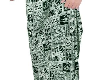 La Leela Beach wear Aloha Hula 100% Cotton Sarong Pareo Mens Wear Cover ups Swimming Wrap - 125773