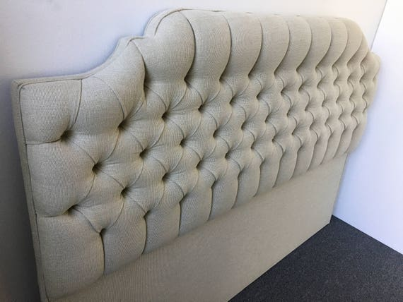 Custom TUFTED Curved Headboard- Design Your OWN In Any Fabric