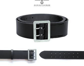 Police Black Leather Belt