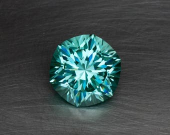 Aqua Green Spinel Huge Loose Lab Created Conflict Free Brilliant Hexagon Modern Faceted Gemstone