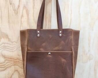 Leather Tote - Brown Oil Tan