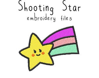 Shooting star EMBROIDERY MACHINE FILES Instant Download pattern multiple sizes included design pattern digital