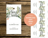 Editable Holiday Gift Tags - Winter Floral - Instant PDF Download - Download, Edit, Print, and Cut