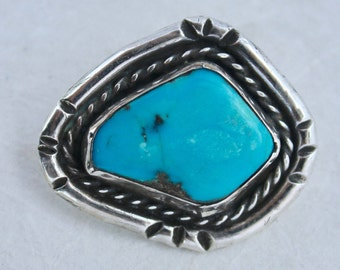 Button Sterling silver with Turquoise made by Paco