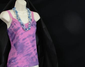 Pink N PURPLE Tie Dye Tank Top workout tank Hippie clothes Hippie shirt Boho tops Bohemian clothing Festival Clothing Hippy pink tank top