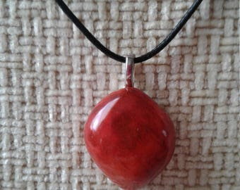 Wooden Pendant- Small Light Rust Color