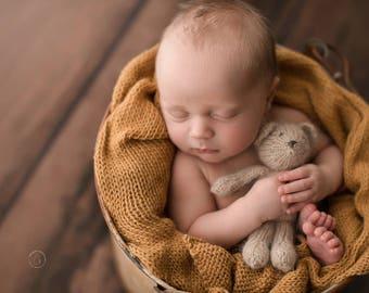Newborn Photo Prop Wrap, Blue Newborn Wrap Pink Stretch Knit Wrap Alpaca Knit Wrap Purple Yellow Teal Newborn Wrap Newborn Photography Prop