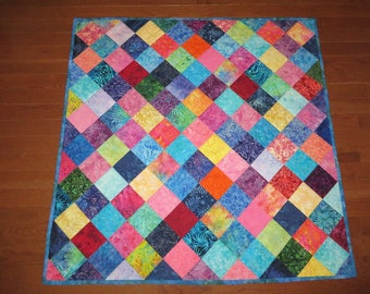 5 Inch Charms Quilt PDF EASY Quilt Pattern Throw Lap quilt or baby Quilt, DIY Quilt Pattern Digital Download, Instant Download