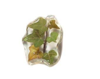 Ivy Pendant - Real Flower Jewelry - Ivy Jewelry - Green Ivy Pendant - Necklace Charm - Flower Jewelry - Green Pendant