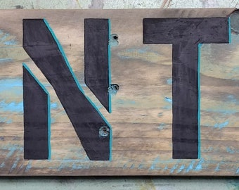 Hand Painted Farm Sign Pantry Turquoise Teal Star Original Folk Art Country Decor Kitchen Shabby Chic Farmhouse Style Fixer Upper Style