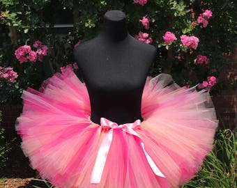 Pink, peach and fuchsia Tutu, Adult cake smash tutus, Adult tutu, Bridal Party Tutu, Multi pink adult tutu, Adult tutus for waist up