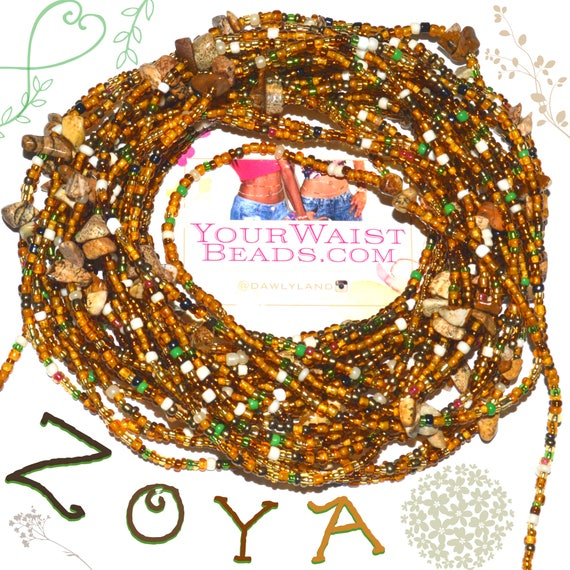 Waist Beads & More ~ ZOYA with Jasper~ YourWaistBeads.com