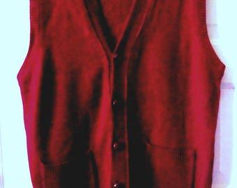 Men's Parker of Vienna Lambswool Sweater Vest, S - M