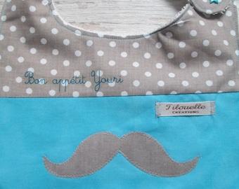 Personalized name, mustache for Yuri bib!