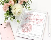 Lowercase Flourishing Practice Sheet with Flourishing Samples - A Modern Calligraphy Lettering Help Sheet for the Procreate App