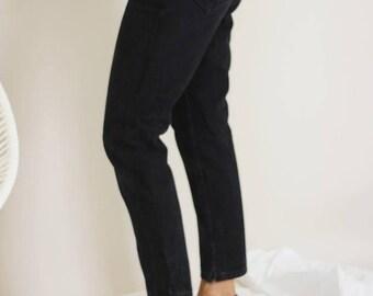 90s Black Raw Edge Lee Jeans