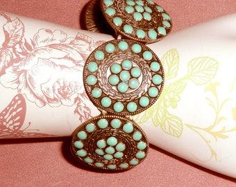 Turquoise Bangle Bracelet Retro Fun Stretchy
