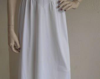Strapless Slip Vintage White Full Slip by Vanity Fair Size 34