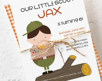 Birthday Party Invitations - Our Little Boy Scout (Style 13352)