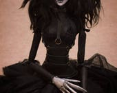 Sale OOAK Handmade Art Doll Edward Scissorhands Inspired Female Version by Majestic Thorns