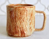 Wood Log Mug - Handmade - 16 oz. Stoneware - READY TO SHIP