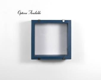 8x8 - 10x10 Shadow Box - DEEP Shadow Box, Custom Colors, White, Display Frame, Figurine Display, Miniature Display, NEW Deisgn