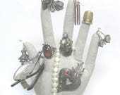 CLASSIC Linen HAND-Stand ~ Eyewear Jewelry Holder ~ Ready to Ship