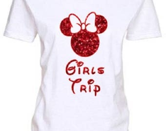 Girls Trip Shirt, Disney Group T Shirt, Minnie Mouse Shirt, Ladies Disney Shirt, Disney Shirt, Womens Disney Shirt, Disney PLUS SIZE Shirts