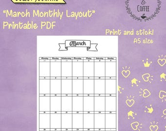 Bullet Journal Printables Planner Stickers by HappyMoment