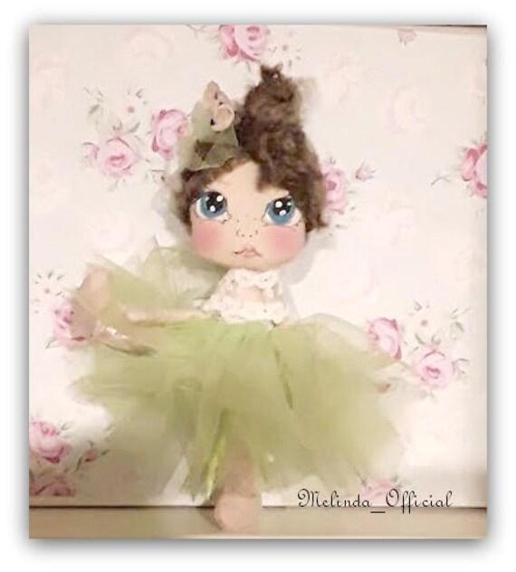 Ballerina ,textile doll , doll Princess,dancer ,Rag doll handmade,bambola di stoffa Melinda.