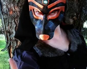Anubis - Leather Mask Masquerade Costume Egyptian Jackal God - READY TO SHIP