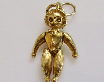 9ct Gold Andy Pandy Character Moving Charm or Pendant