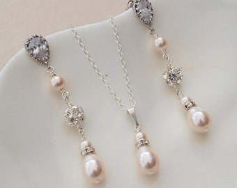 Sparkle Bridal Earring and Necklace Jewellery Set
