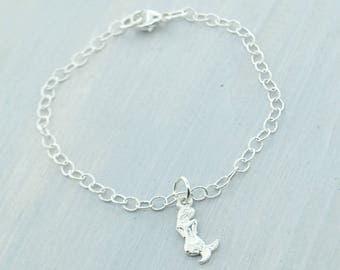 Mermaid Bracelet, Silver Mermaid Charm Bracelet, Sterling Silver Mermaid, Nautical Jewelry, Silver Mermaid Jewelry, Gift For Her,