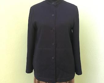 Maska 70s made in Italy blue wool jacket