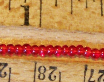 14 oz Lot Dark Red Czech GLASS SEED BEADS 10 Hanks x 12 Strand each 11/0 Rocaille  (approx 40,000 beads)