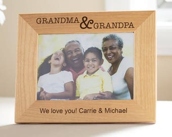 Personalized Grandparents Picture Frame: Gift from Grandchildren, Personalized Grandparents Gift, Unique Grandparents, Gifts for Grandparent