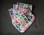 RESERVED FOR DONNA G. - Custom Order - Extra Absorbent Flannel and Minky Burp Cloths and Bib Gift Set