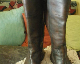 Vintage Womens Frye Paige Tall Riding Boots Style 76533 - Size 7