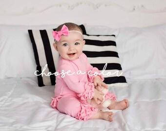 Baby Headband, Baby Girl Headband, Baby Bows, Felt Headband, Newborn Headband, Navy Headband, Nylon Headband, Bow Headband, Newborn Girl Bow