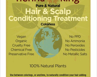 Henna King Pure and Natural Hair & Scalp Conditioning Treatment