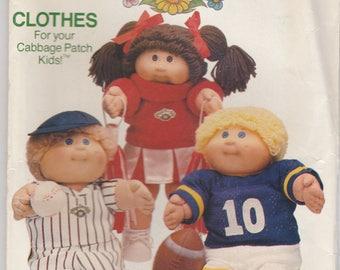 Cabbage Patch Kids Clothes Pattern Butterick 6827 Uncut