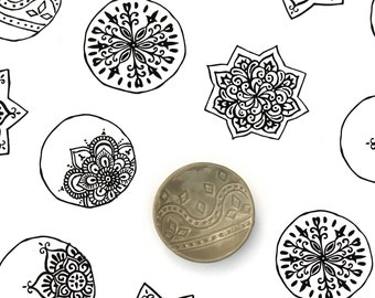 Gray Ring Holder - Grey Geometric Dish - Vintage Textile Stamped Pattern - Bridesmaids Gift / Bridal Shower Favor / Wedding Gift