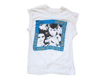 vintage t shirt / INXS t shirt / 80s band t shirt / 1980s INXS Dont Change 1983 US tour muscle t shirt Small