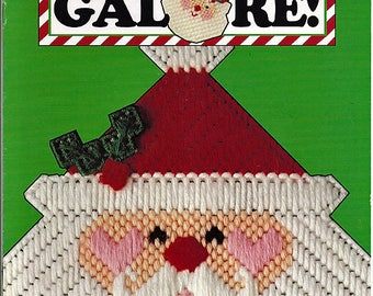 Santas Galore In Plastic Canvas Pattern Book Leisure Arts Suppplement to Plastic Canvas Corner