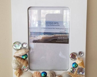 Mermaid 4x6 Picture Frames! Two available and ready to ship! Great Christmas gift for your favorite mermaid! Coastal decor, Beach decor!